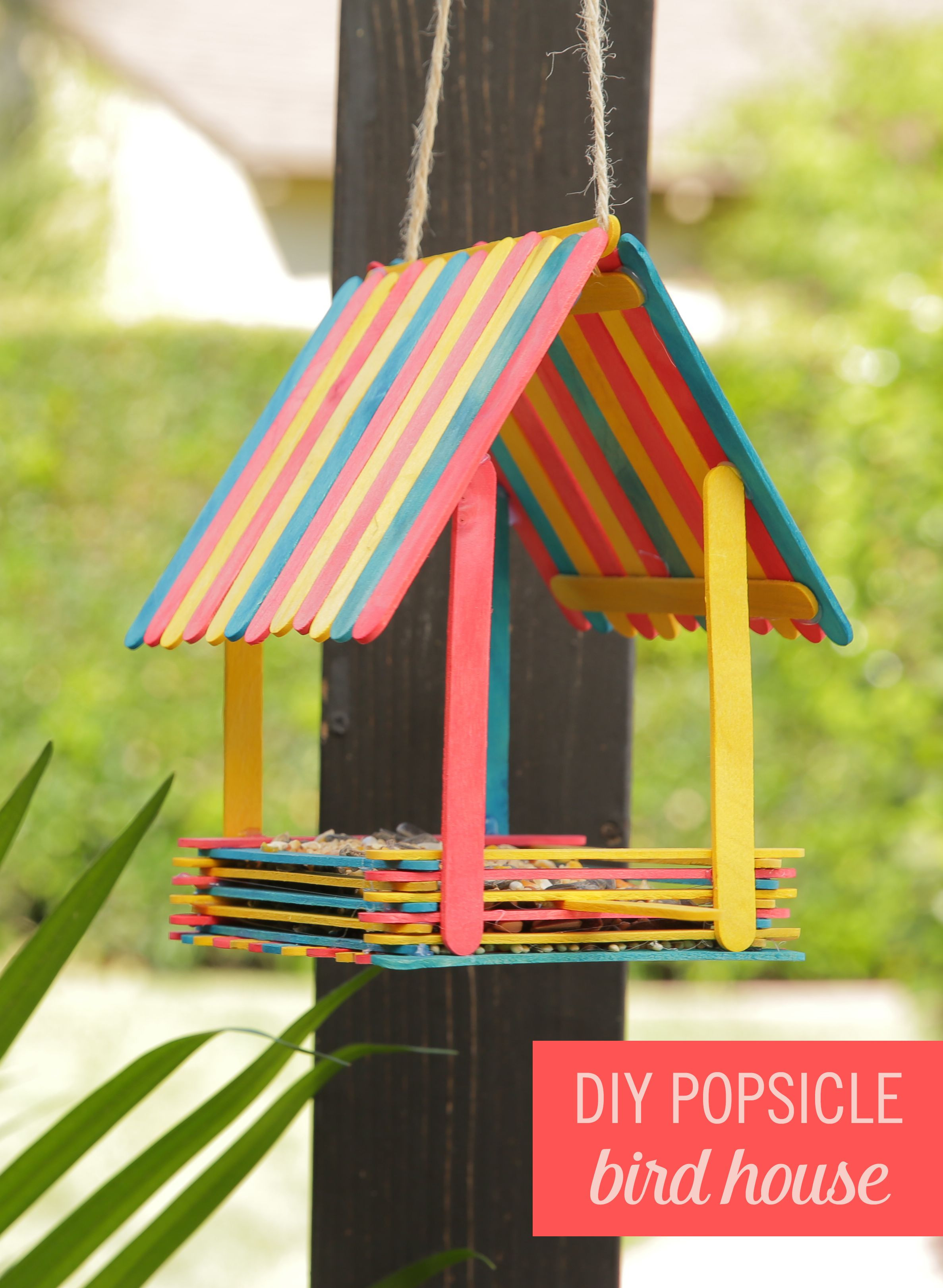 ice cream stick flower vase of turn popsicles into an adorable bird house summer diys and with regard to embrace your inner snow white and bring birds to your backyard with this adorable diy popsicle bird house grab some colorful popsicles hot glue