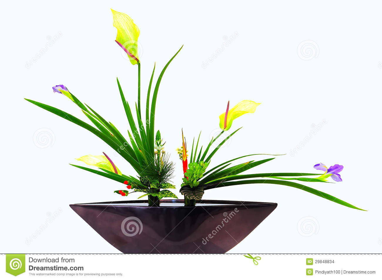 ikebana bamboo vase of flowers in vase white background stock photo image of arrangement in download flowers in vase white background stock photo image of arrangement beauty 29848834