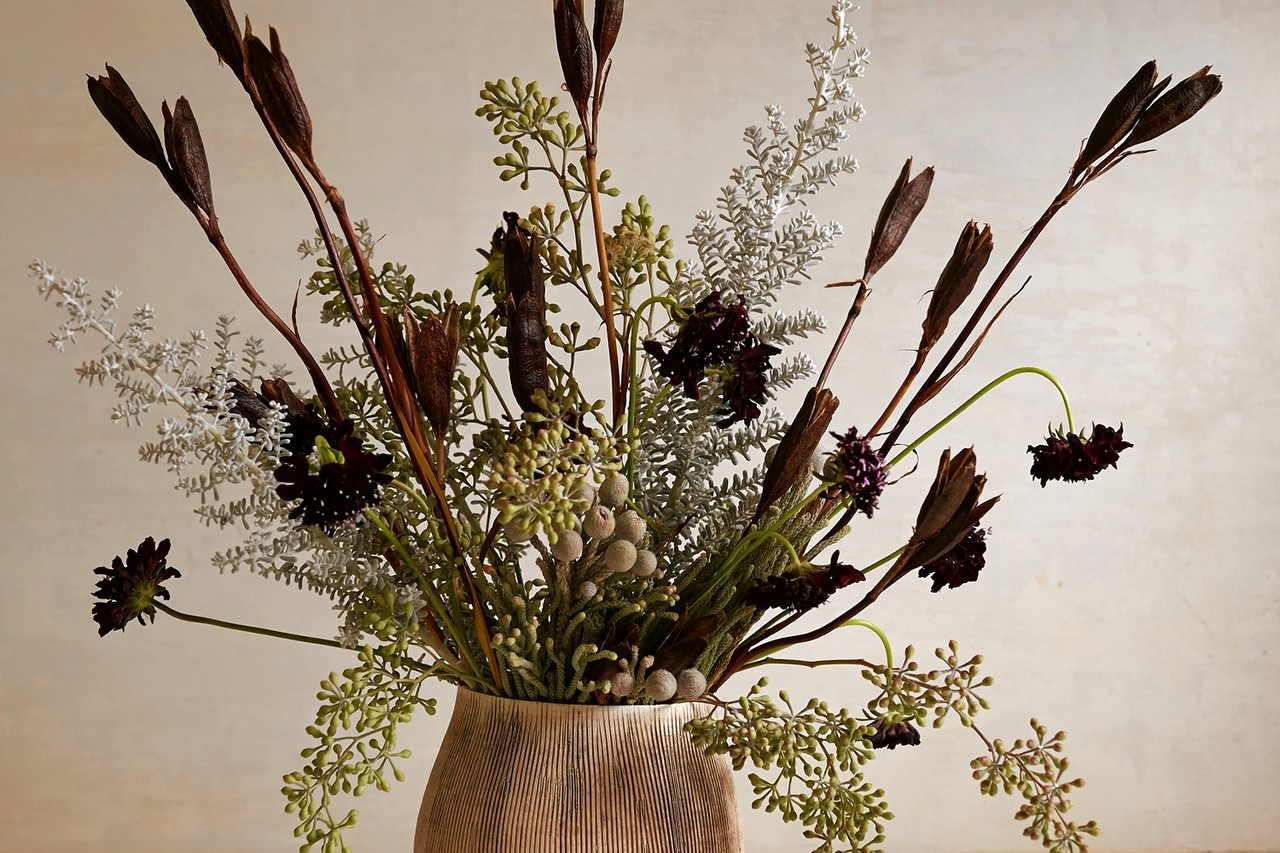 ikebana vase pottery of a flower arrangement inspired by a wintry landscape wsj within od be510 flower m 20141202131549