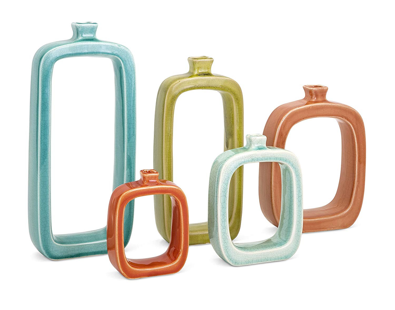 imax agatha ceramic vases set of 3 of amazon com imax 14162 5 warlow vases set of 5 home kitchen within 81c2vlcjxel sl1500