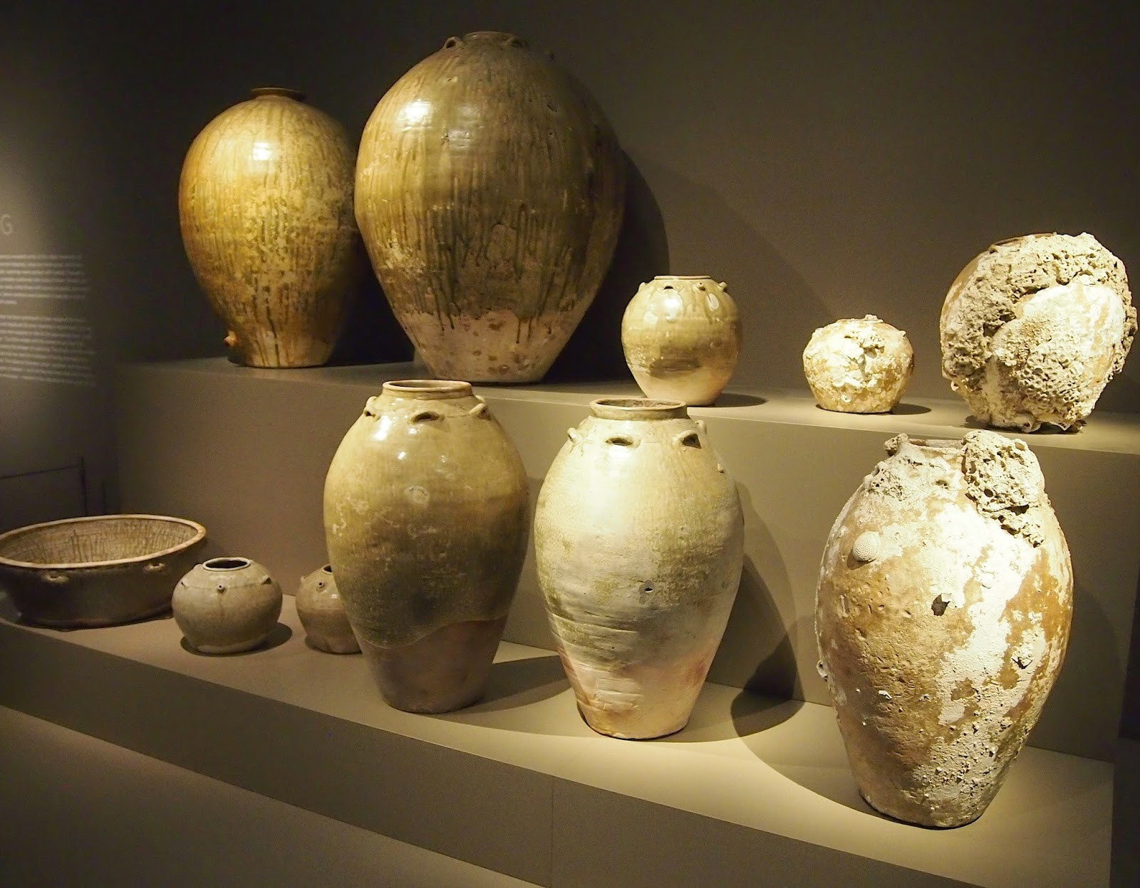 Imax Agatha Ceramic Vases Set Of 3 Of Shipwreck A Controversy Magnet now An Exhibition at Aga Khan Museum Regarding Recovered Pottery On Display at the Aga Kan Museum Photo George socka