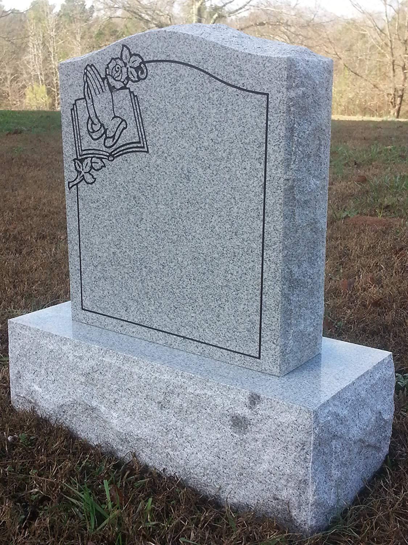 in ground metalcraft cemetery vases of amazon com upstate stone works granite memorial headstone die and for amazon com upstate stone works granite memorial headstone die and base 5 designs pet supplies