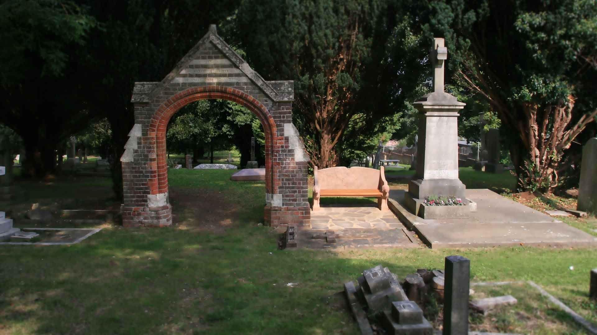 in ground metalcraft cemetery vases of st peters church great berkhamsted regarding cemetery