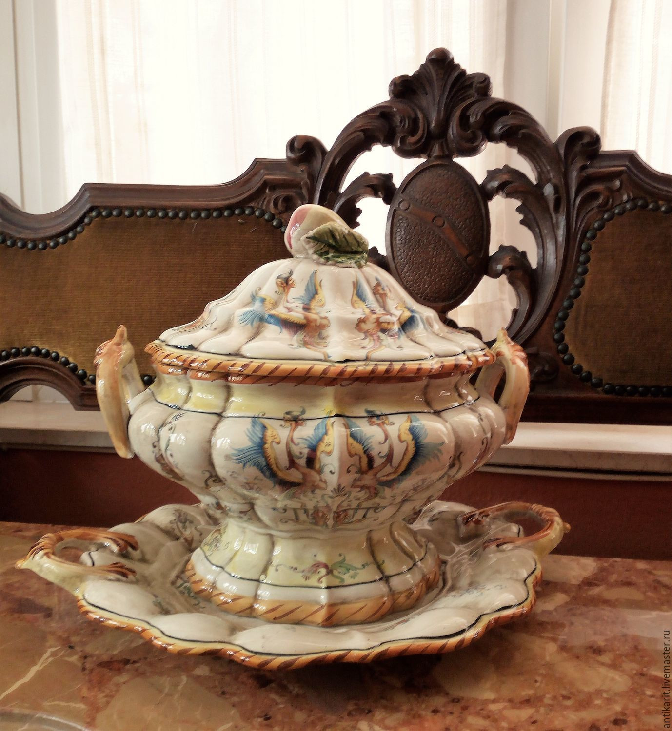 italian ceramic vase of a large vase with a dish capodimonte italy shop online on with regard to italy vintage interior decor livemaster handmade buy a large vase with a dish