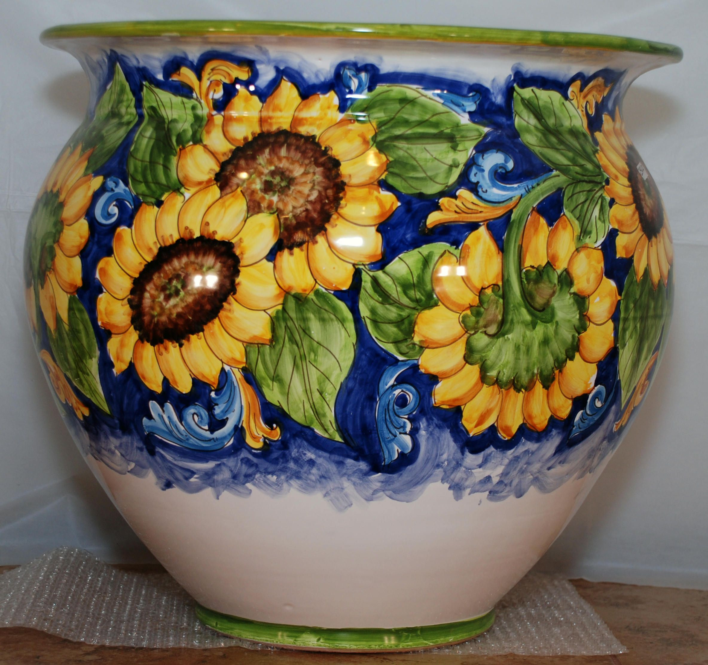 italian ceramic vase of traditional sicilian sunflower decorated vase in 2018 pottery within traditional sicilian sunflower decorated vase by aputiadure on etsy