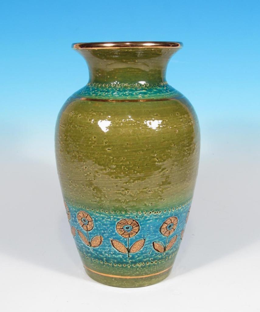 italian hand painted vases of bitossi italian art pottery aldo londi vase raymor era mcm eames throughout bitossi italian art pottery aldo londi vase raymor era mcm eames modern 1 of 3