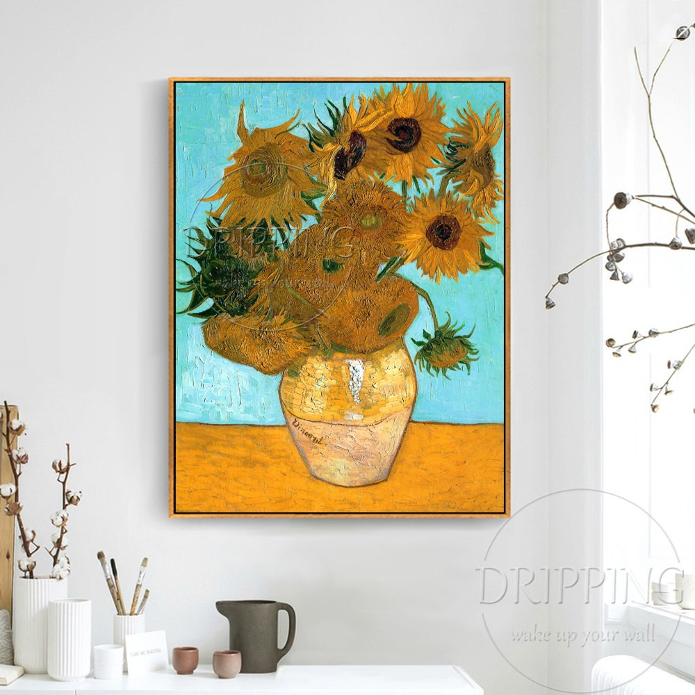 italian hand painted vases of top artist team hand painted impressionist sunflower oil painting throughout top artist team hand painted impressionist sunflower oil painting van gogh still life vase with twelve sunflowers oil painting in painting calligraphy