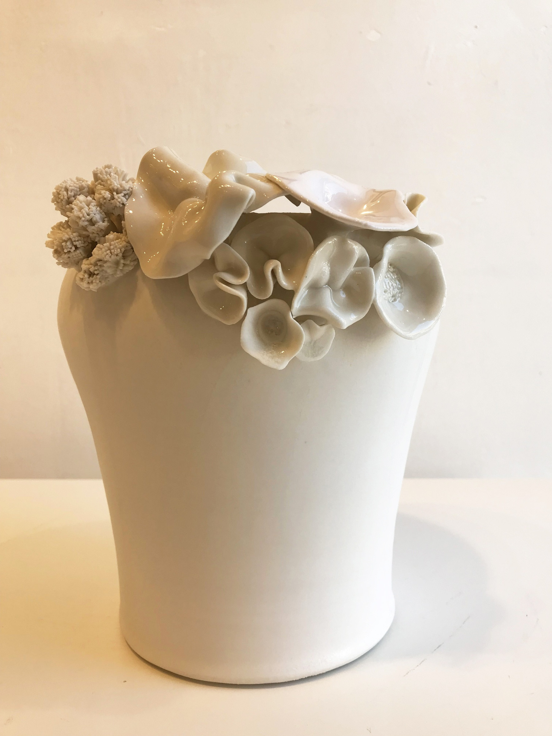 ivory ceramic vase of emma jagare large flower vase various flowers and coral on one with regard to large flower vase various flowers and coral on one side