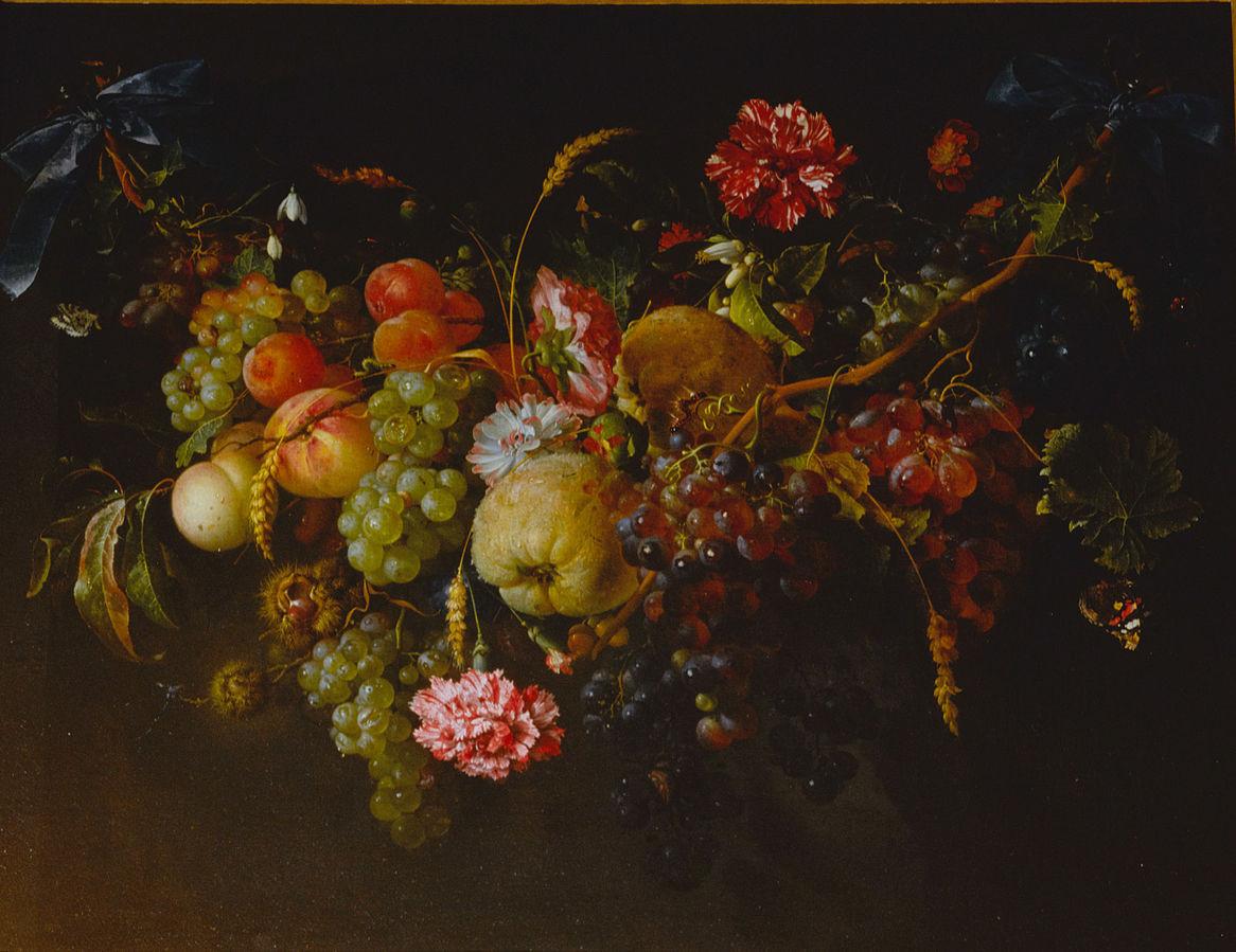 jan davidsz de heem vase of flowers of aƒ¤aƒ³aƒaƒ€aƒa'a'¹aƒaƒ‡aƒaƒ˜aƒ¼aƒ crotos intended for garland of fruit and flowers