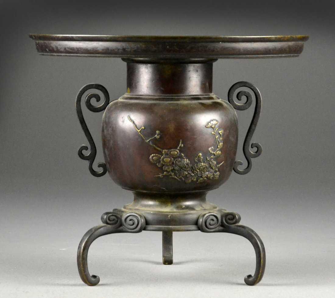 japanese bronze ikebana vase of japanese meiji bronze ikebana usabata vase pertaining to 17113288 1 x