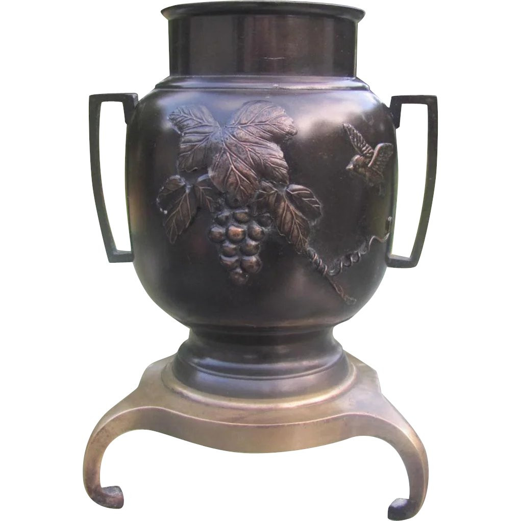 Japanese Bronze Ikebana Vase Of Japanese Vintage Bronze Usubata Ikebana Vase for Rikka the Many Pertaining to Japanese Vintage Bronze Usubata Ikebana Vase for Rikka the Many Faces Of Japan Ruby Lane