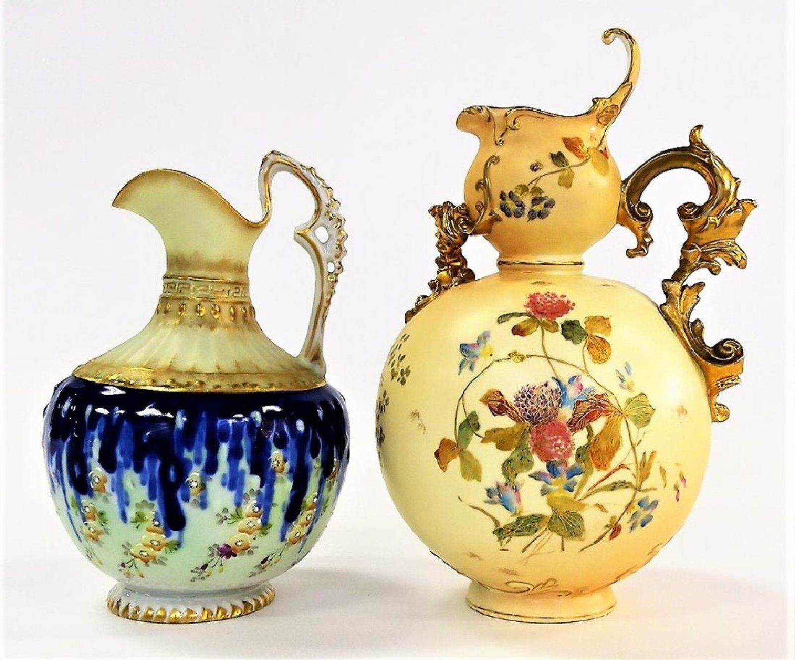 japanese cloisonne vase value of 2 antique continental hand painted ewers keramia porcelan vazak intended for 2 antique continental hand painted ewers