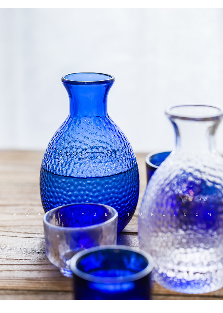 japanese glass vase of blue color cool kettle japanese style glass wine set jugs small in getsubject aeproduct getsubject