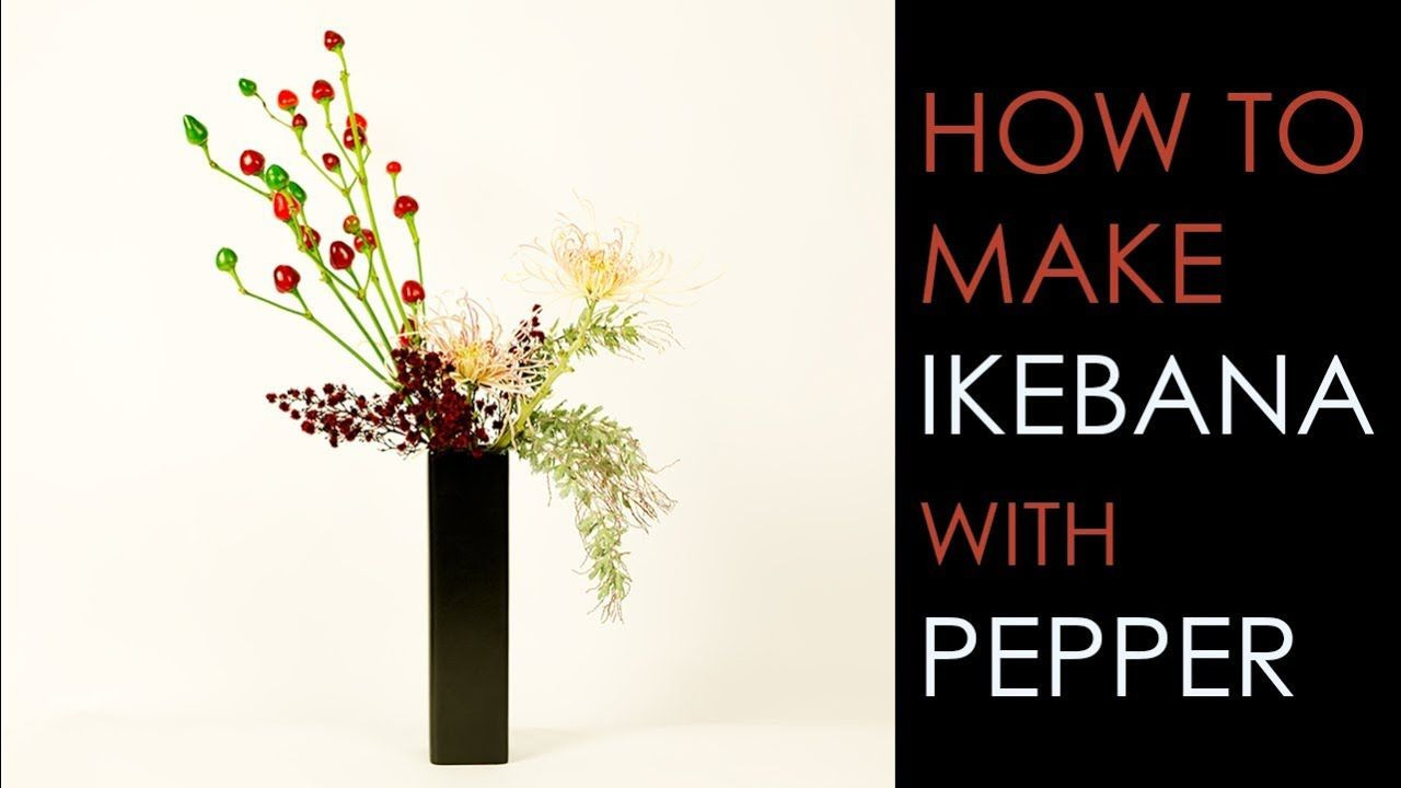Japanese Ikebana Vases Of This Nageire Vase Ikebana Arrangement is Composed Of Pepper with Regard to Ikebana