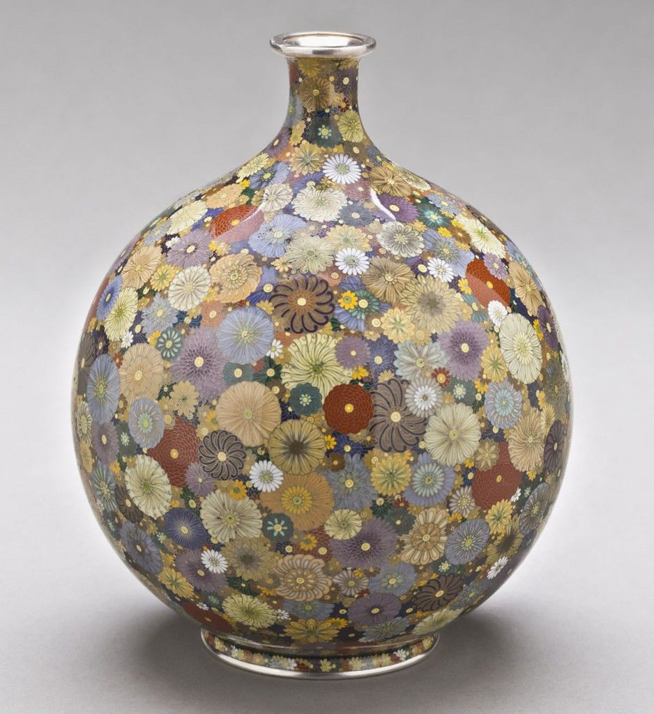 japanese pigeon blood cloisonne vase of hayashi kodenji vase with chrysanthemum design c 1900 antique intended for hayashi kodenji vase with chrysanthemum design c 1900