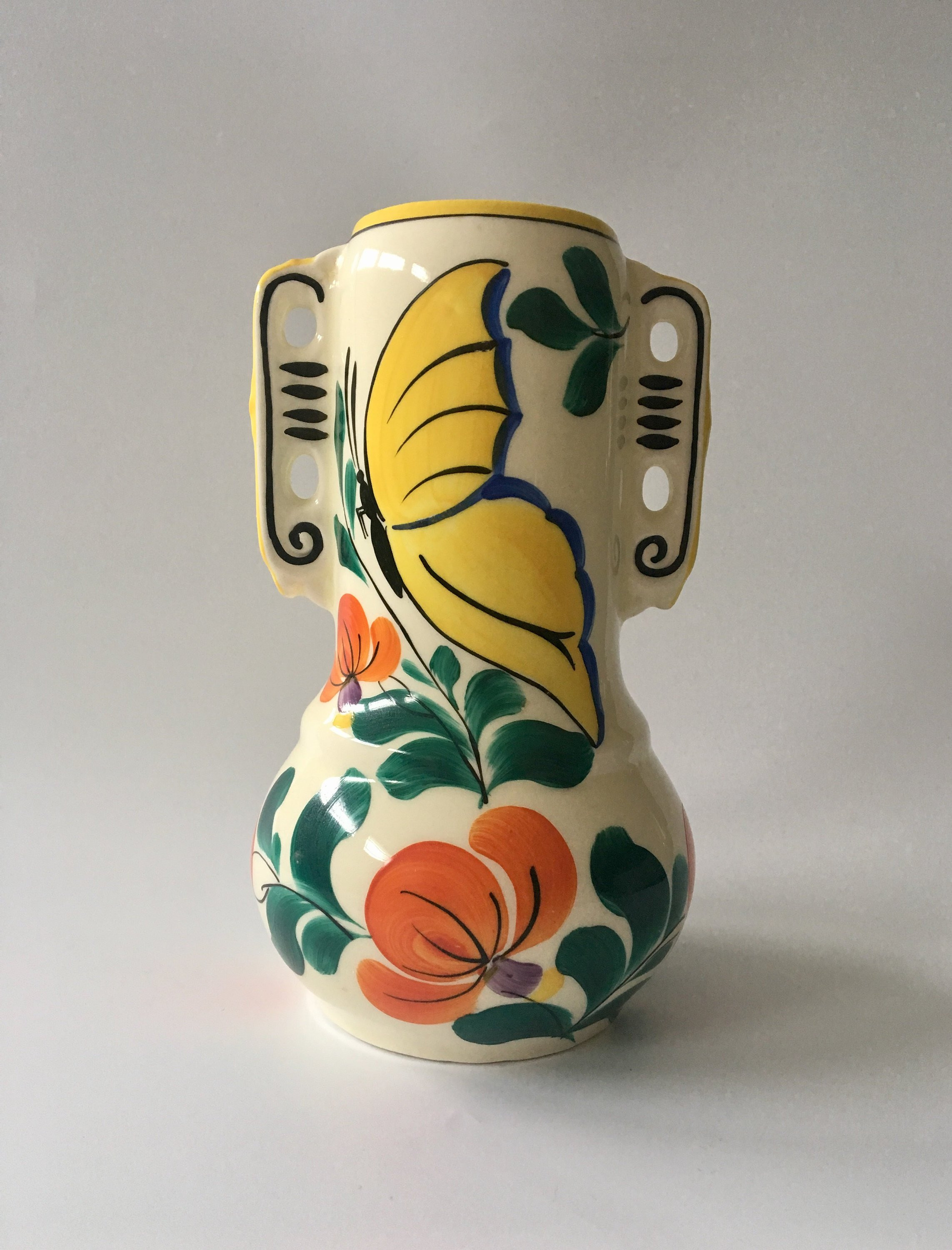 "japanese satsuma moriage vase of antique art deco vivid ditmar urbach 8 czech pottery etsy with regard to dŸ""Žzoom"