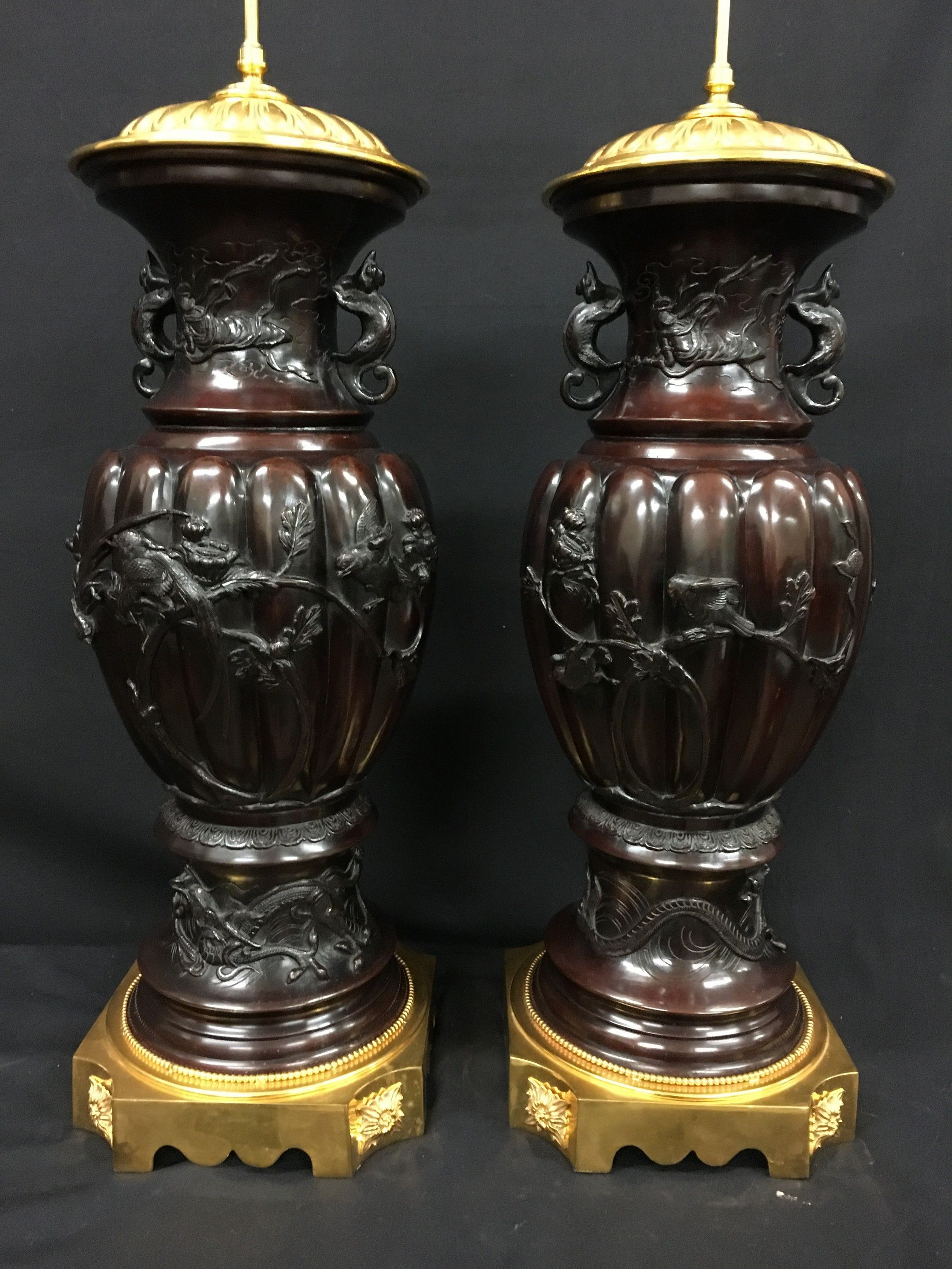 japanese satsuma moriage vase of antique japanese vases the uks premier antiques portal online with regard to pair large japanese bronze vases lamps
