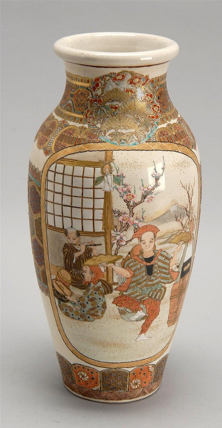 25 Fashionable Japanese Satsuma Moriage Vase 2021 free download japanese satsuma moriage vase of satsuma pottery vase circa 1890 in rouleau form with two figural intended for satsuma pottery vase circa 1890 in rouleau form with two figural cartouches con