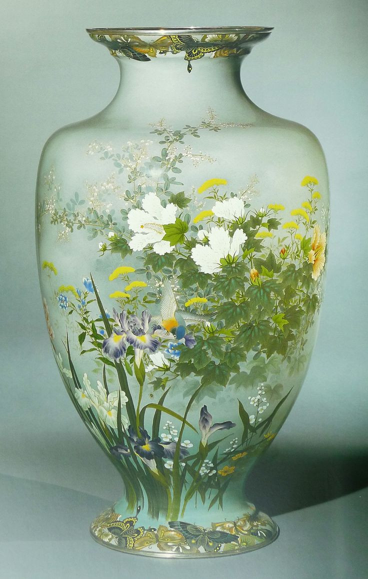 japanese vase appraisal of 3463 best vases images on pinterest vases glass vase and porcelain intended for one of a pair of monumental cloisonne vases moriage and musen enamels worked in silver