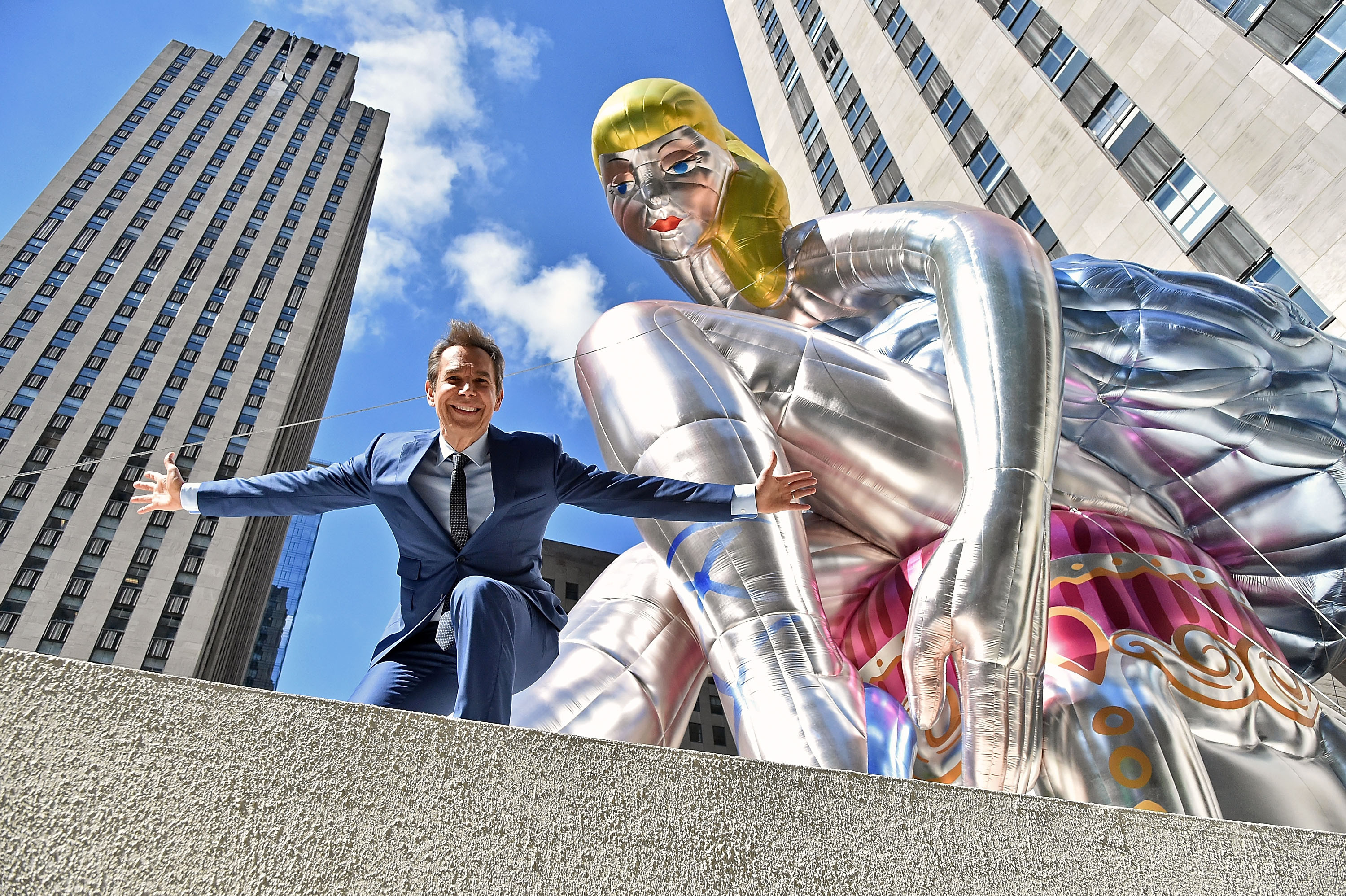 jeff koons puppy vase price of jeff koons talks art basel hong kong and china vs the west hashtag with jeff koons with seated ballerina a public art project at the rockefeller center in new