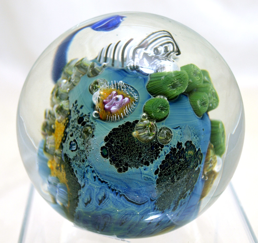 josh simpson vase of josh simpson 3 1 2 mega planet glass paperweight pertaining to jsag0008 2
