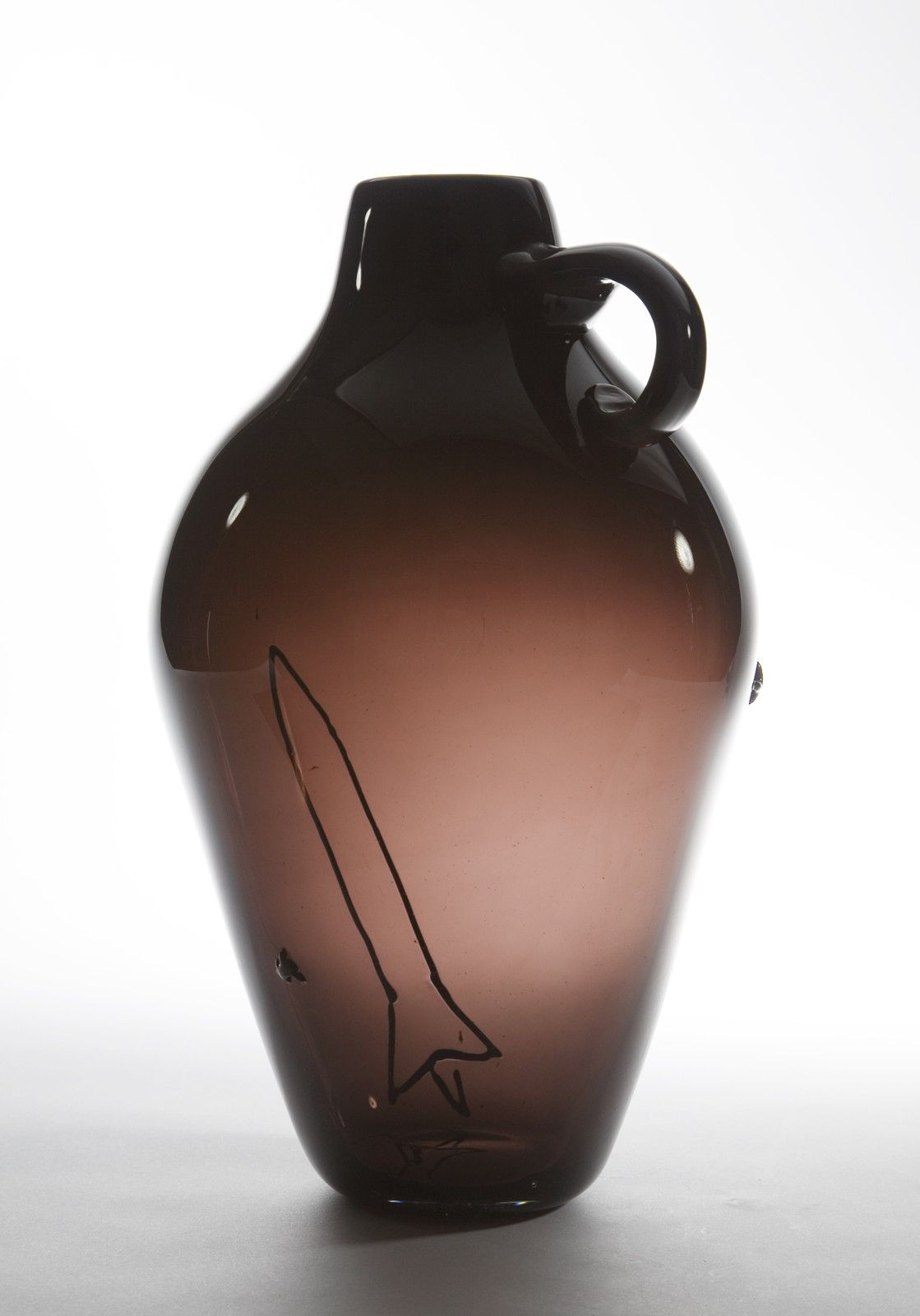 jozefina art glass vase of black rocket jug prototype by jason miller 2008 corning museum regarding artist a·