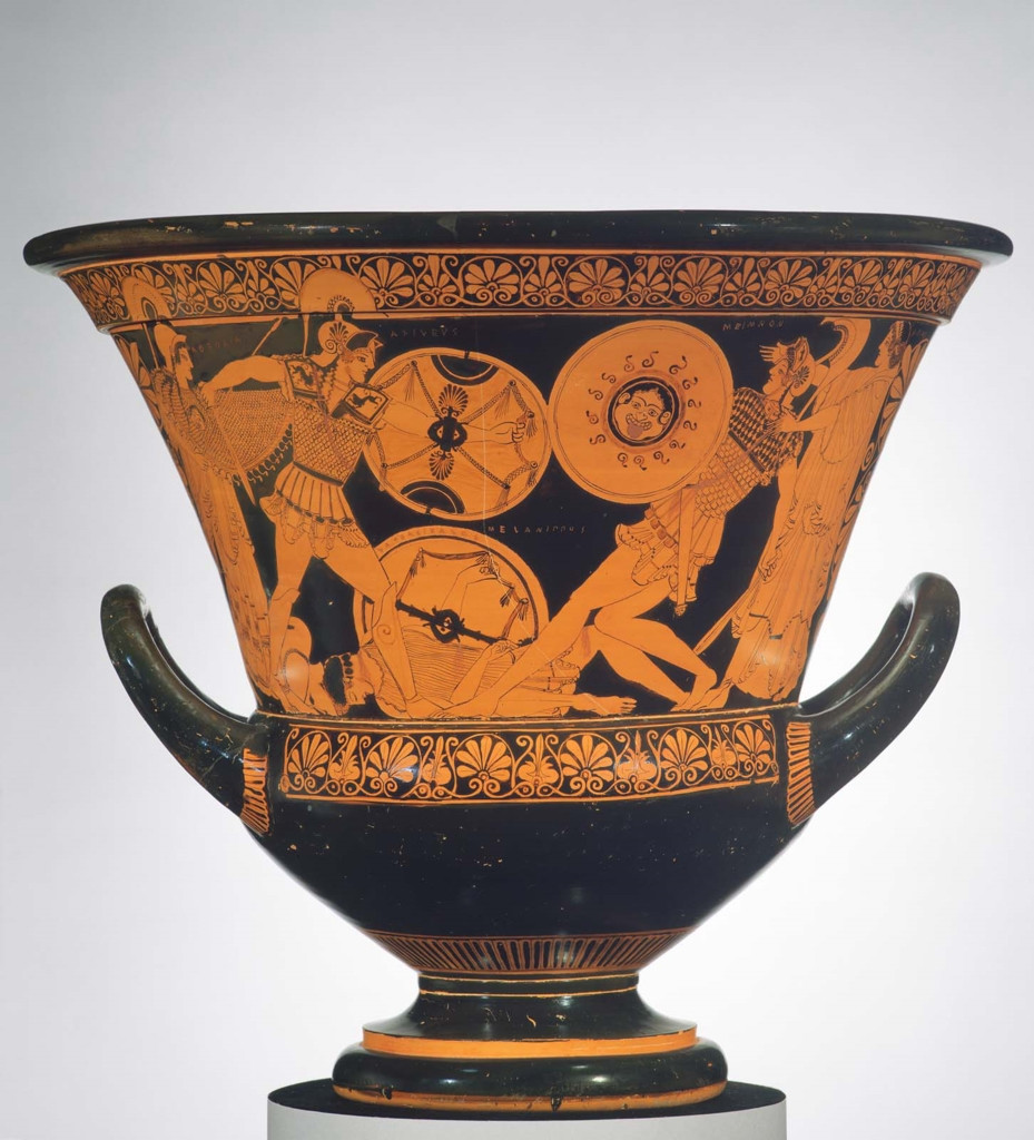 jpl france vase of art with a past museum of fine arts boston intended for mixing bowl calyx krater depicting dueling scenes from the trojan war