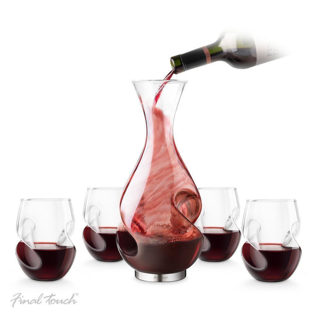 Jumbo Martini Glass Vase Of Jumbo Wine Glass Decanter Xl 1 5 L Extra Large Novelty Drinks Inside Final touch Red Wine Set Conundrum Decanter Stemless Glasses Aerator Carafe Gift