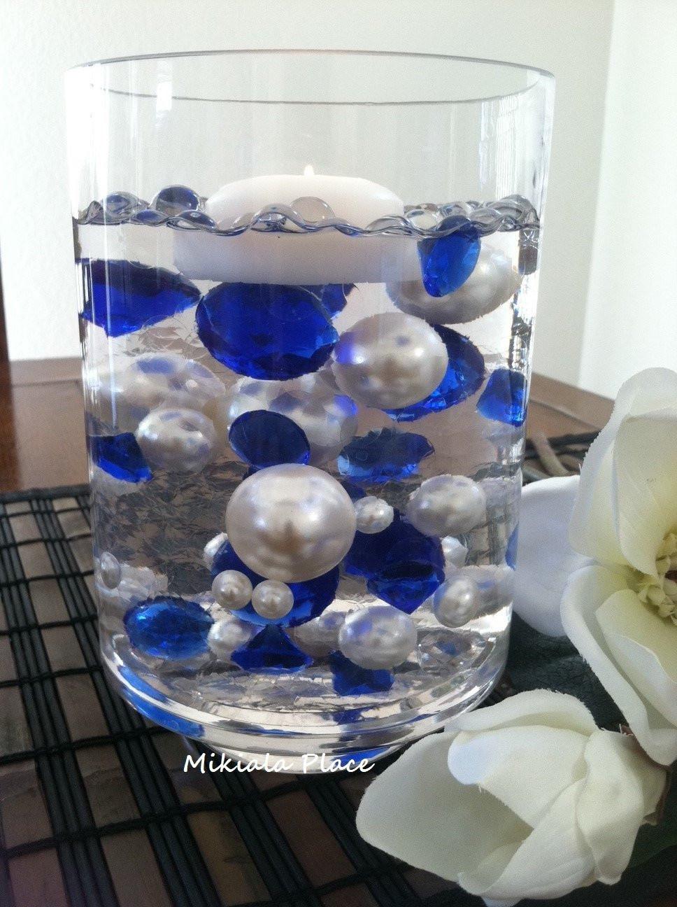 """jumbo pearl vase fillers of diy 50pc floating jumbo diamond jumbo pearl vase fillers etsy in dŸ""""Žzoom"""