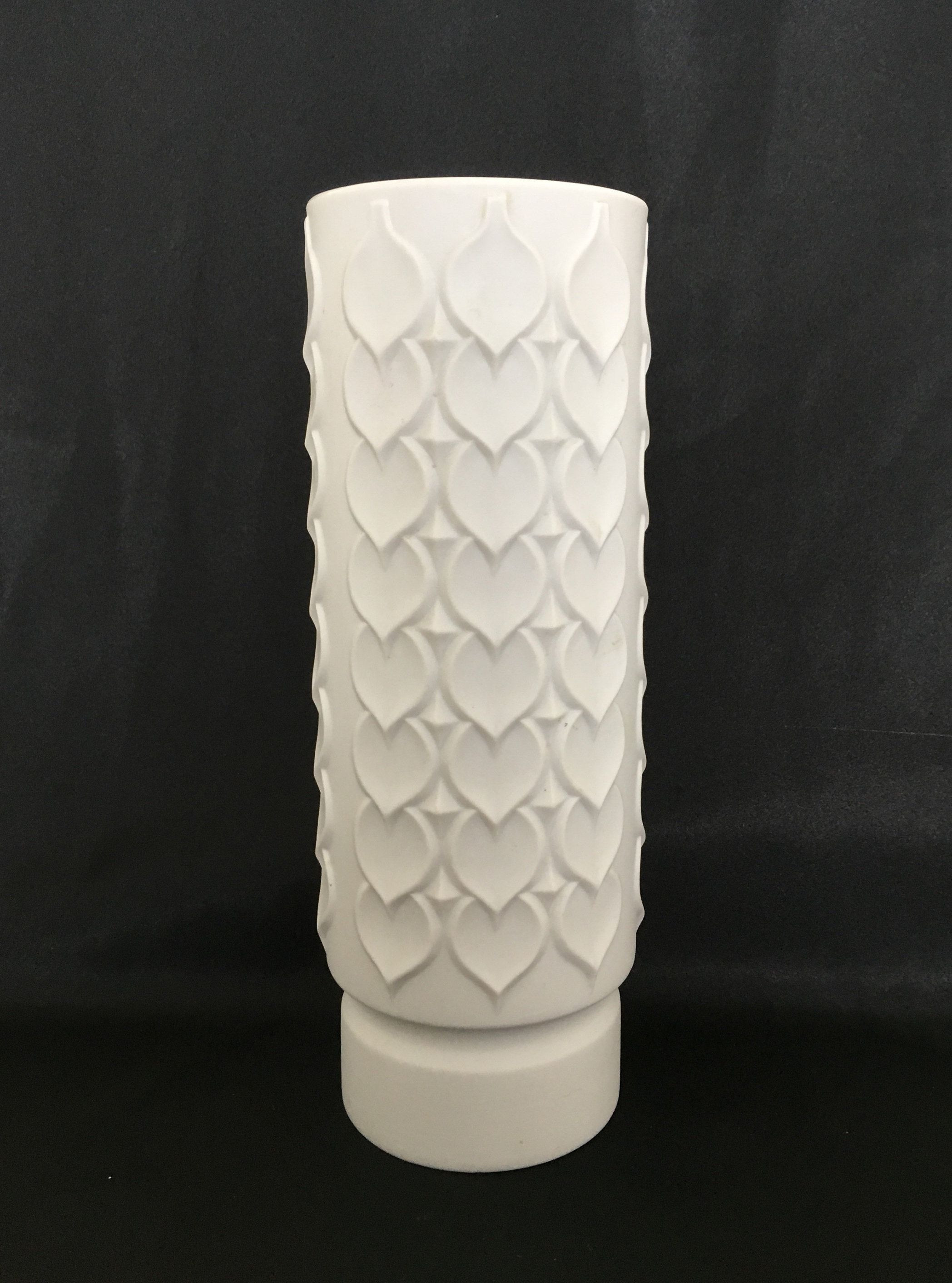 kaiser germany vase of kaiser white op art bisque vase with hearts leaves decor west with kaiser white op art bisque vase with hearts leaves decor by woodstockstudio on etsy