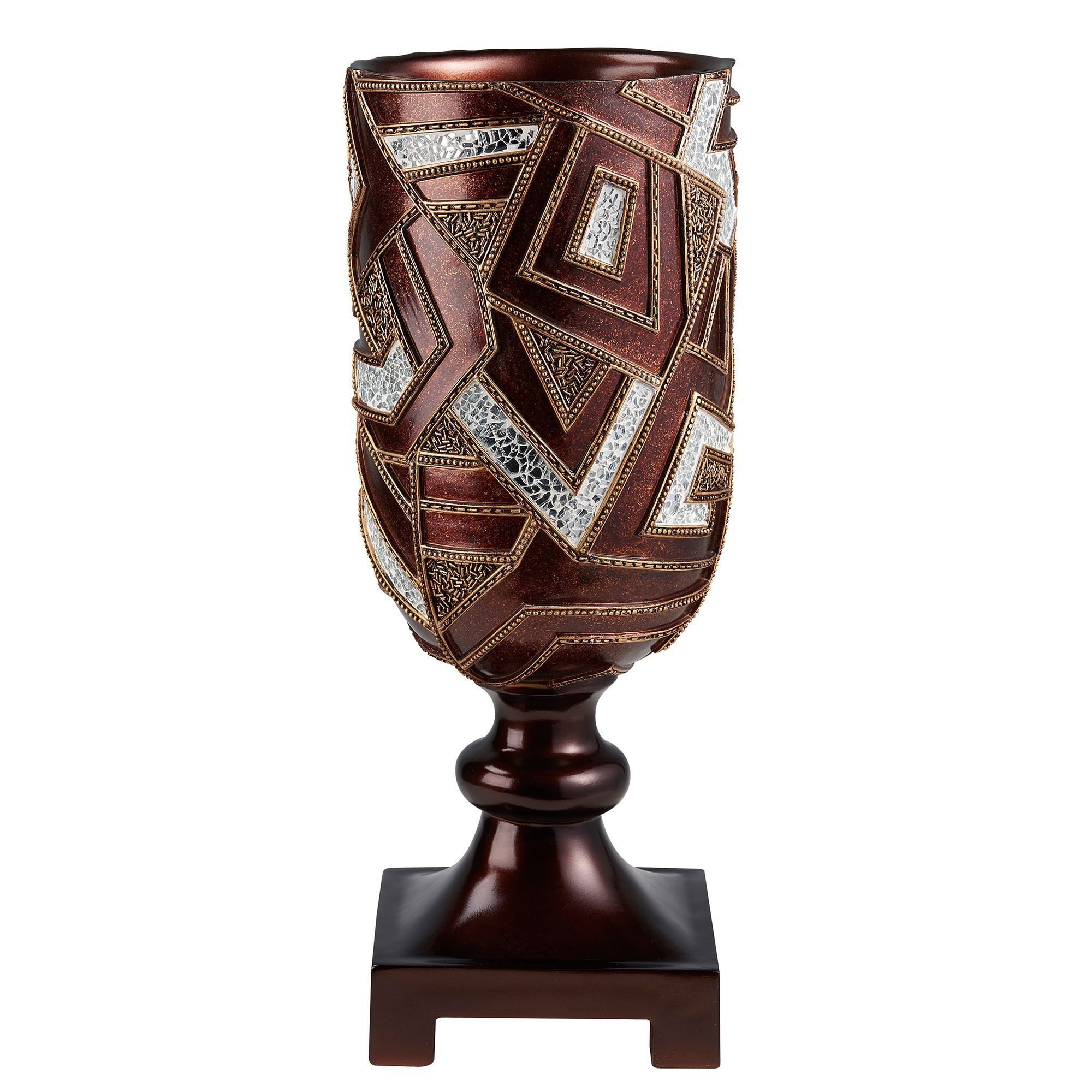 kate spade glass vase of ore international gold and brown polyresin 19 75 inch mosaic in ore gold and 19 75 inch mosaic decorative vase
