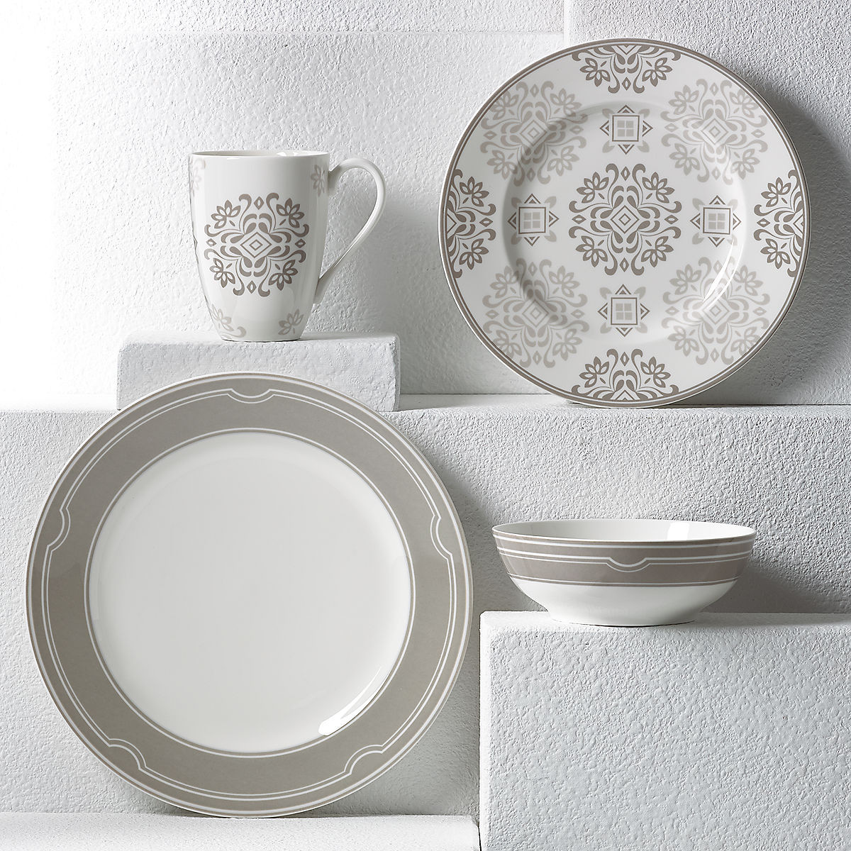kate spade lenox vase of neutral party medallion 4 pc place setting sets within neutral party medallion 4 pc place setting