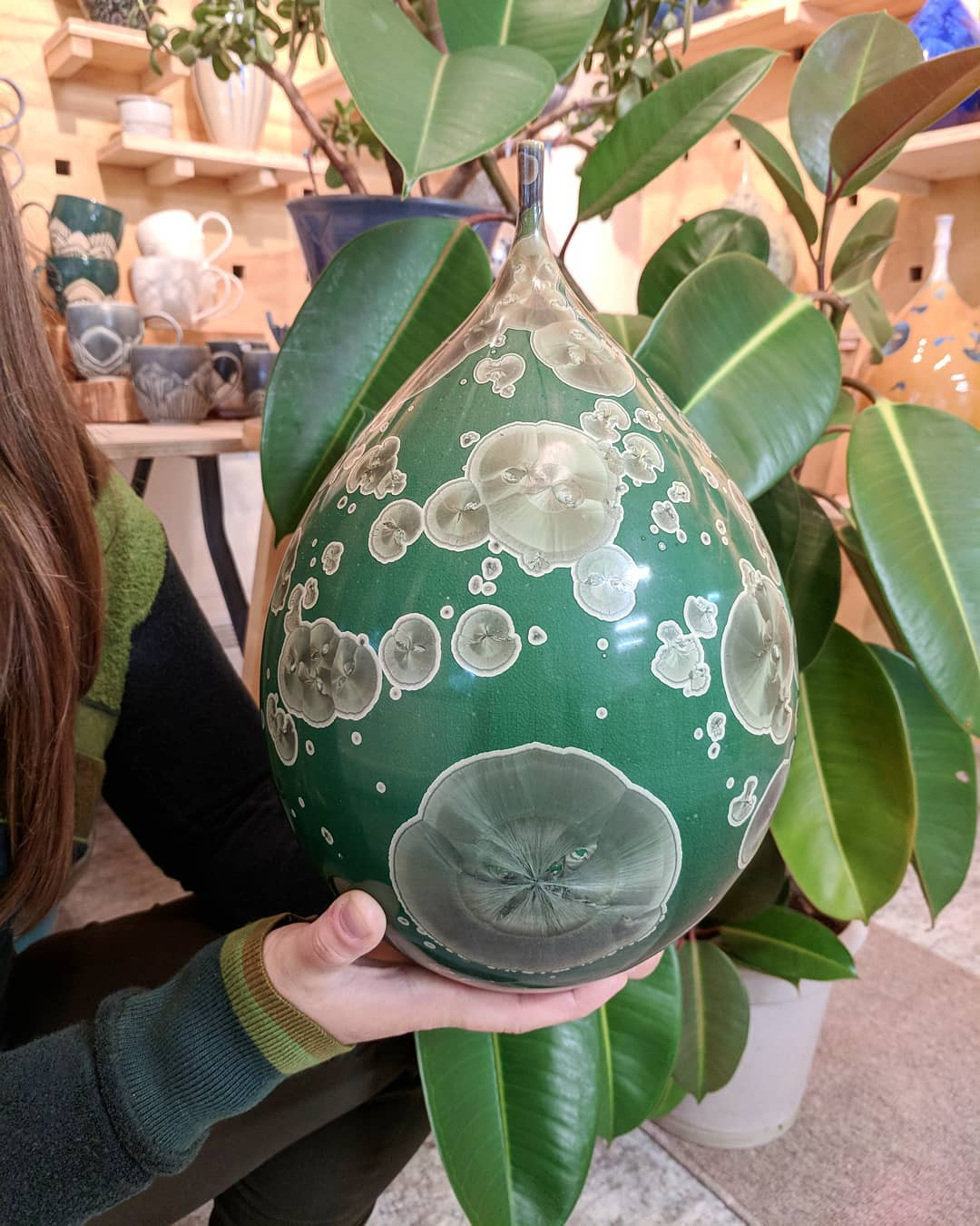 korean celadon vase of crystallinepottery hash tags deskgram within this pot came from the rainforest ceramics