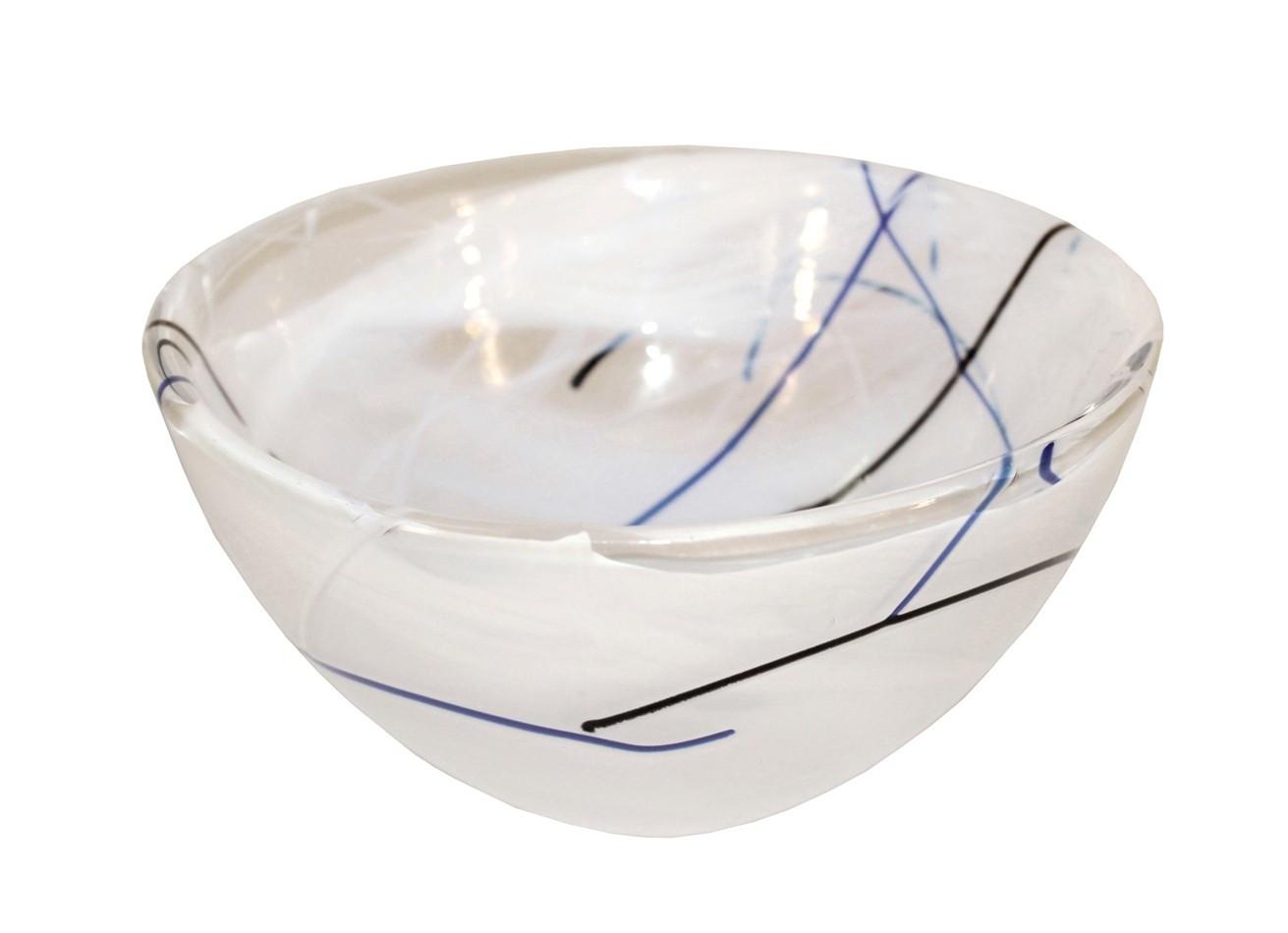 kosta boda contrast vase white of anna ehrner for kosta boda glass contrast bowl nyshowplace throughout anna ehrner for kosta boda glass contrast bowl