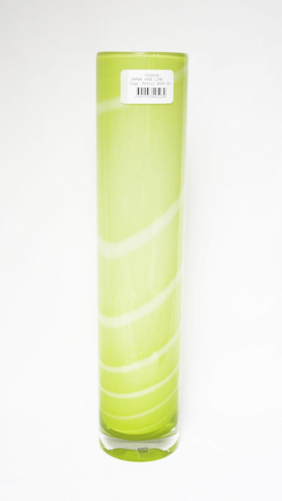 kosta boda crystal vase of kosta boda swedish crystal anna ehrner samoa vase lime ebay regarding s l1600