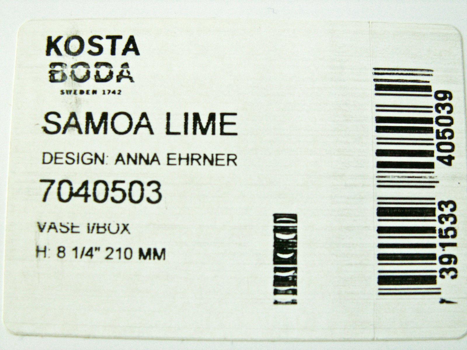 kosta boda crystal vase of kosta boda swedish crystal anna ehrner samoa vase lime ebay throughout s l1600 1
