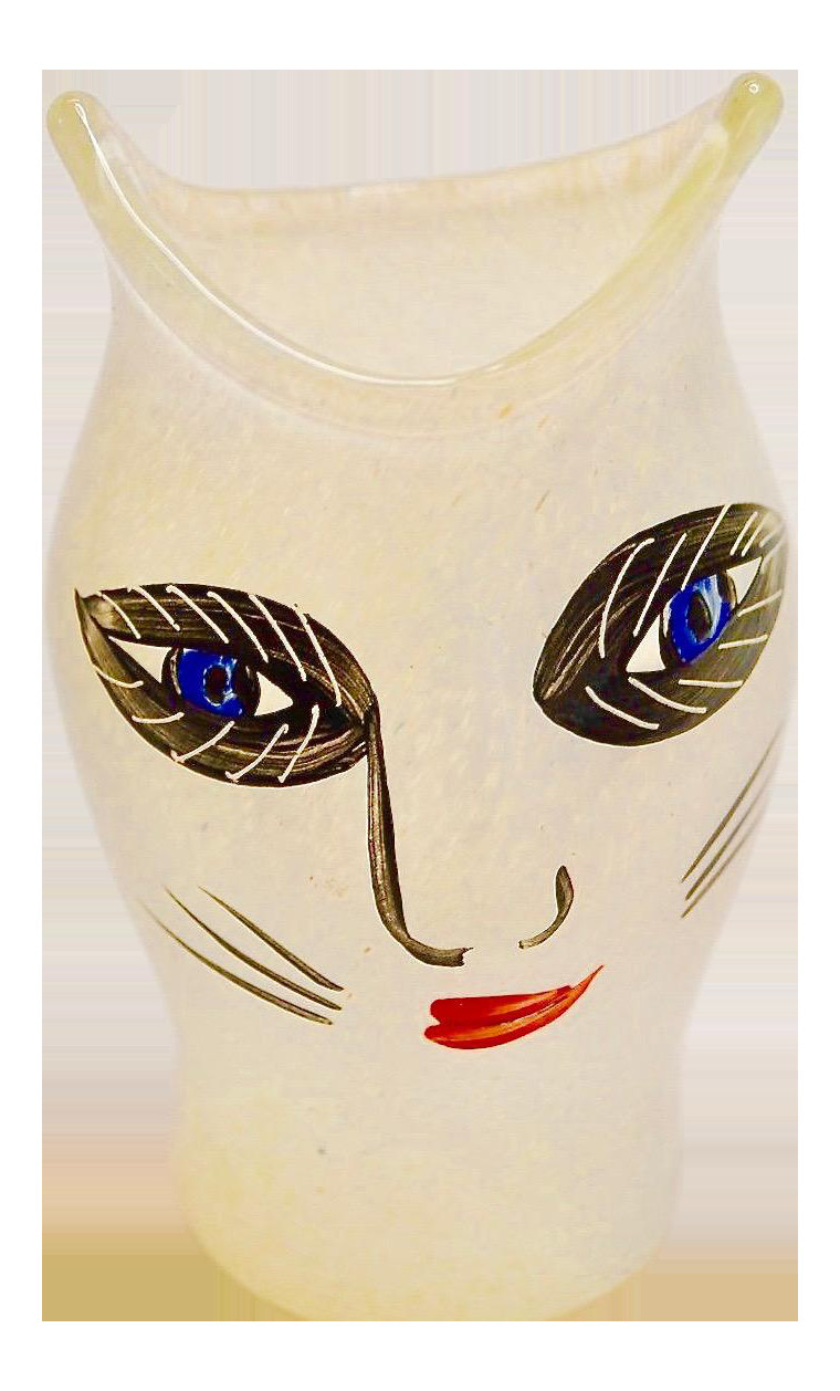 kosta boda face vase of ulrica hydman vallien for kosta boda glass cat vase chairish within ulrica hydman vallien for kosta boda glass cat vase 7911