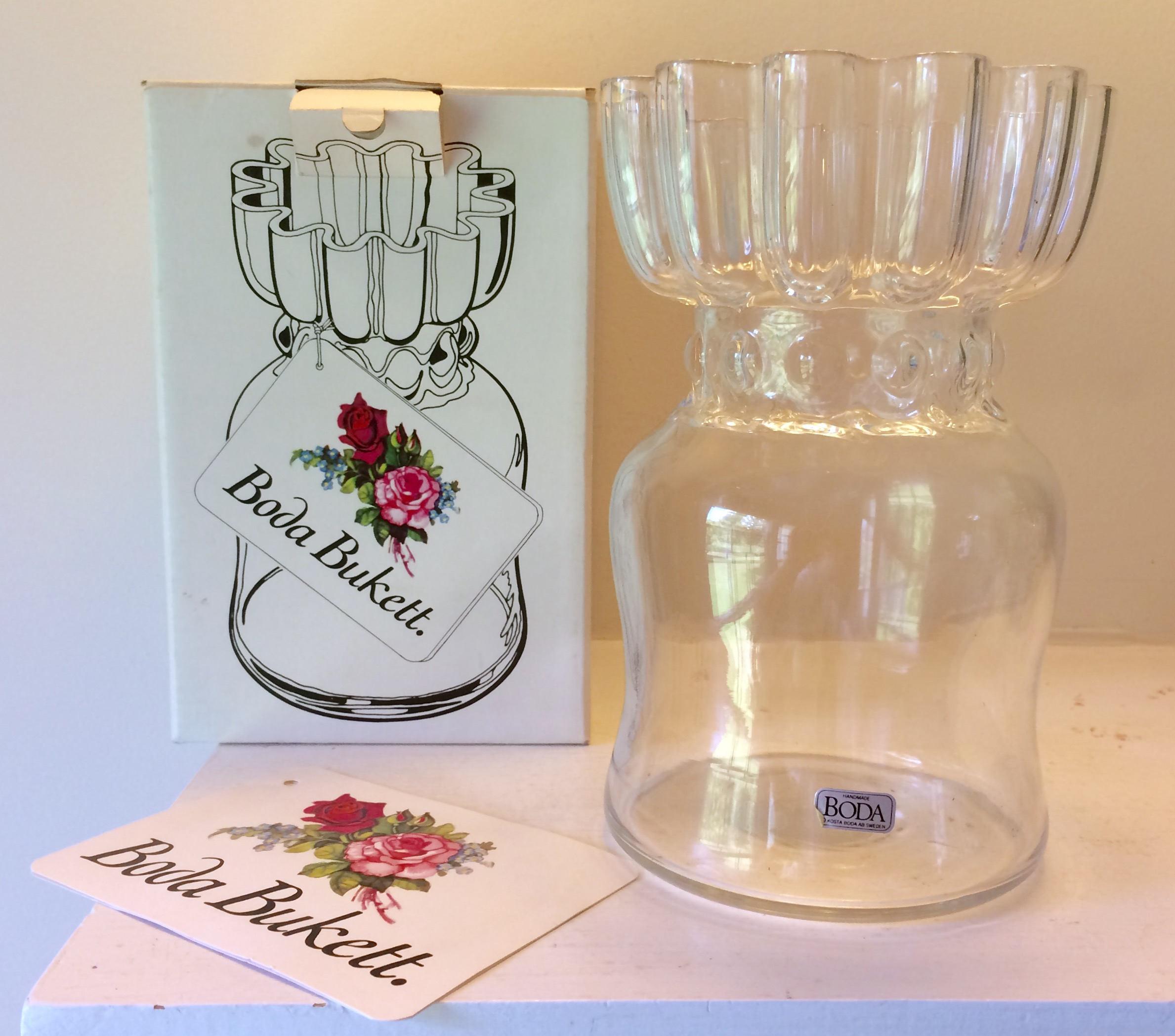 """kosta boda glass vase of kosta boda boda bukettt handmade glass vase rolf sinnemark pertaining to dŸ""""Žpowia™ksz"""