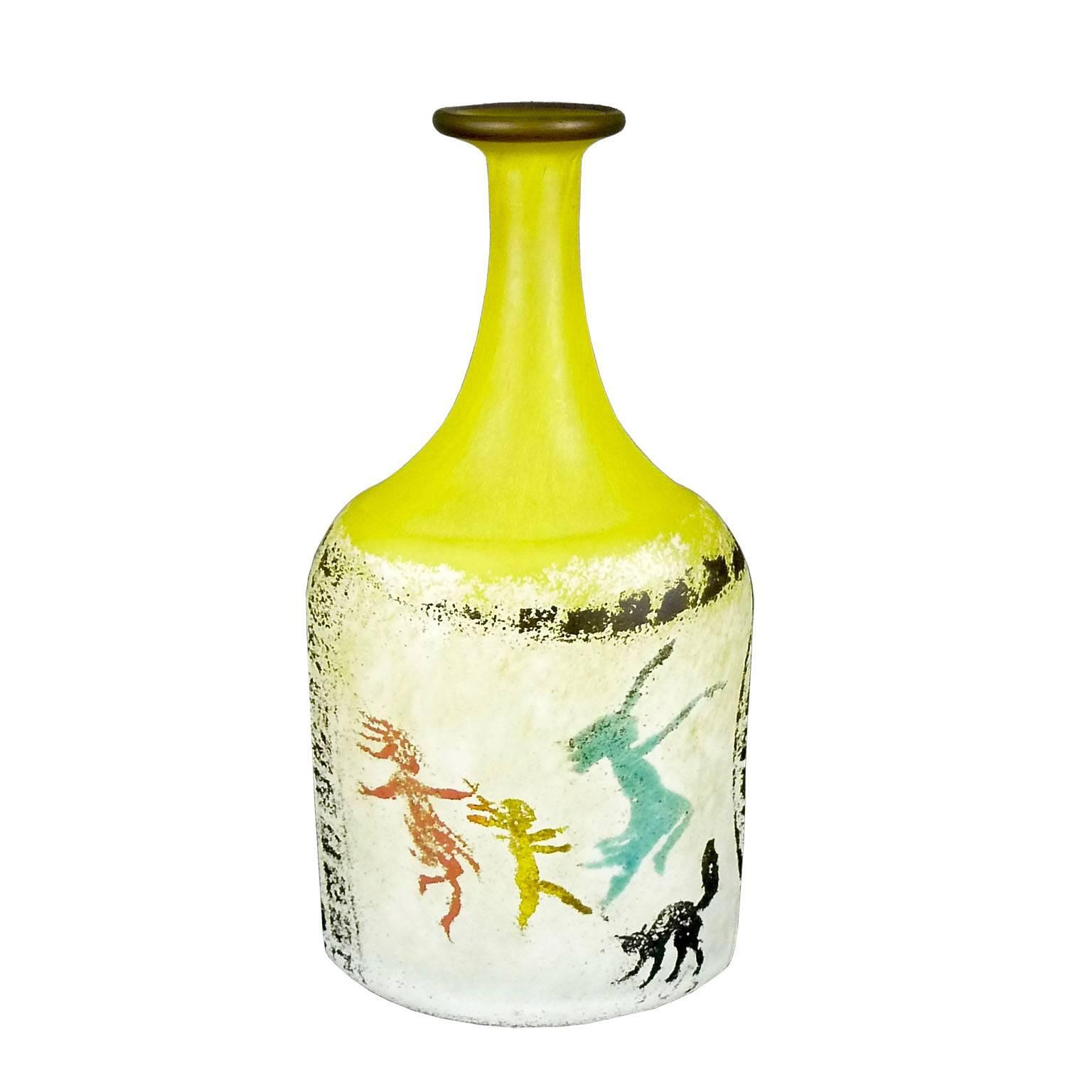 Kosta Boda Glass Vase Of Swedish Glass Vase by Designer Kjell Engman for Sale at 1stdibs with Kjell Engman Yellow Bottle 01 Master