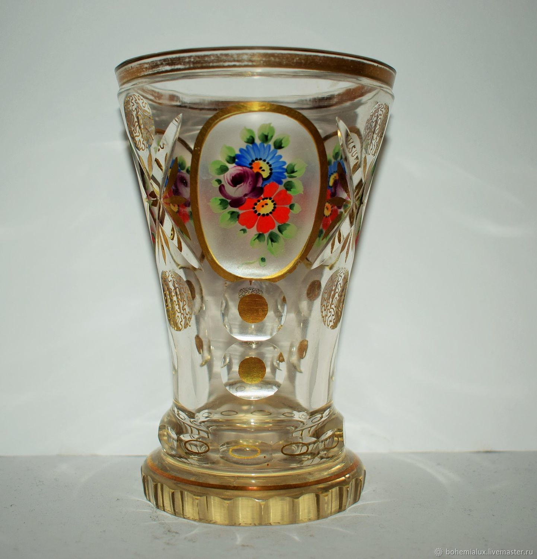 Kralik Glass Vase Of Vintage Bowl Cup 19th Century 1840 1870 Gg Bohemia Shop Online On within Vintage Interior Decor Livemaster Handmade Buy Vintage Bowl Cup 19th Century 1840