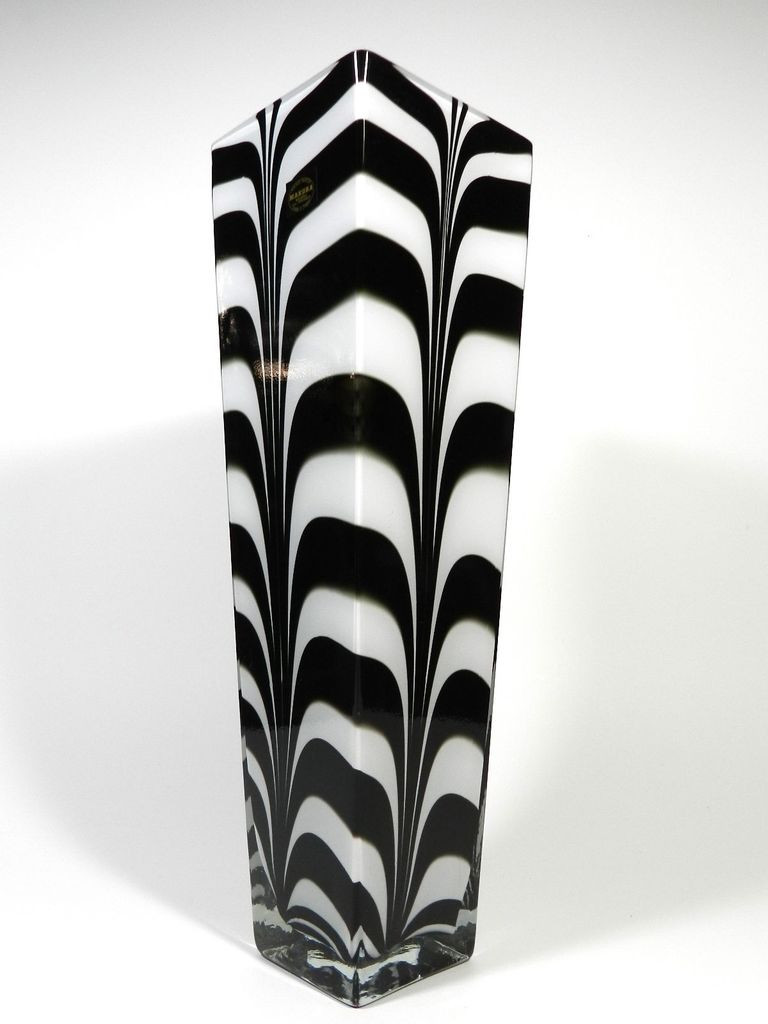 krosno poland crystal vase of makora krosno poland zebra cased art glass vase 20 shop uniques in makora krosno poland zebra cased art glass vase 20 shop uniques unlimited