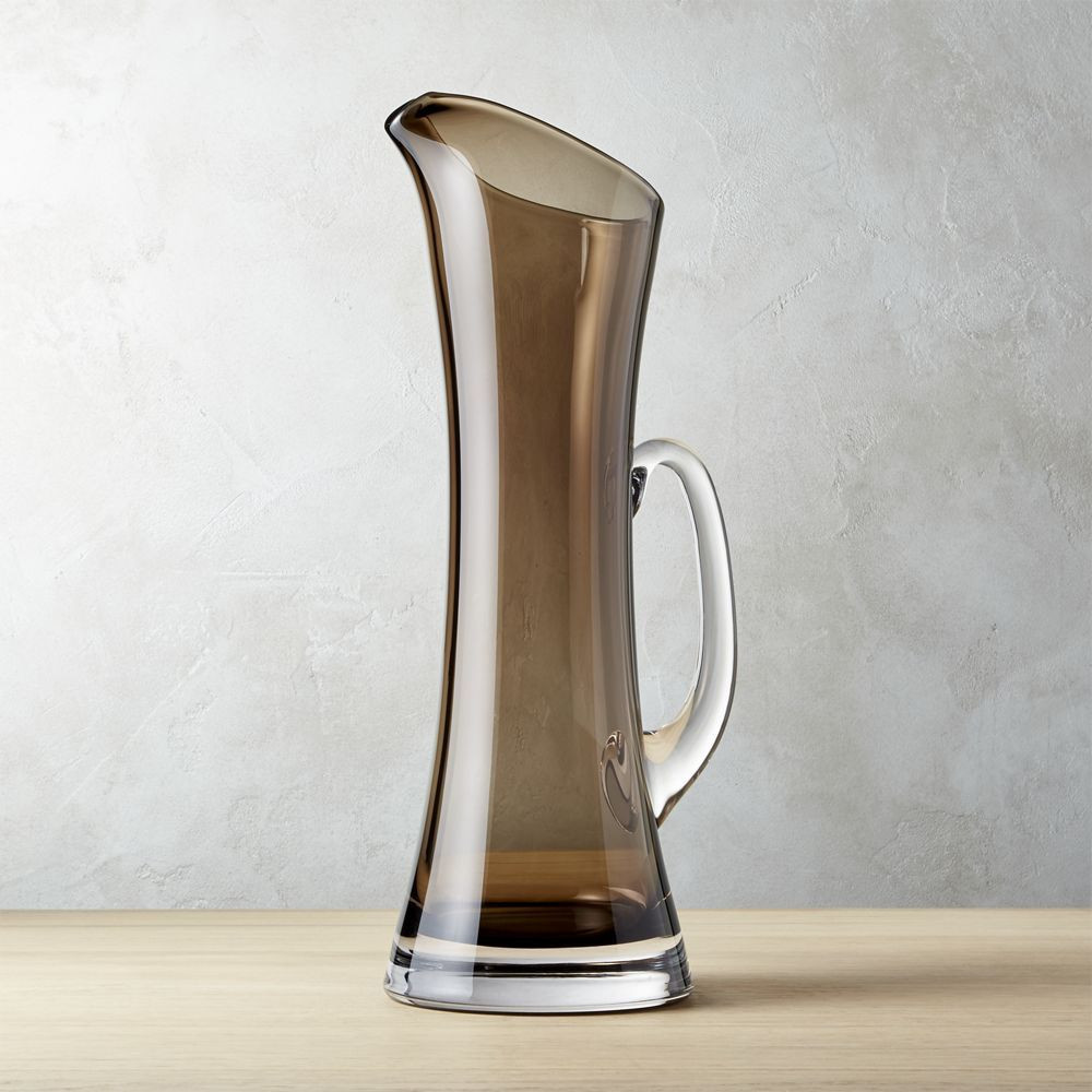 krosno poland glass vase of lola smoke grey pitcher shop the look products pinterest wine pertaining to lola smoke grey pitcher