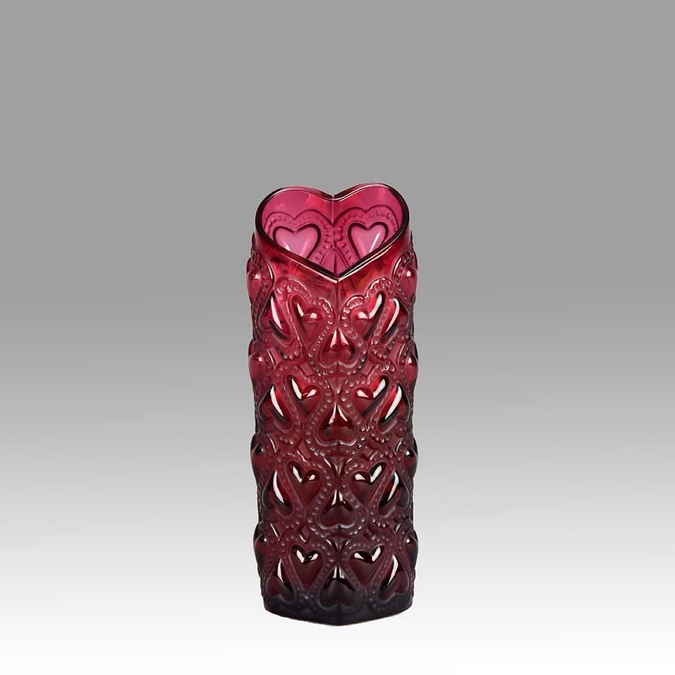 lalique bacchantes vase large of love hearts vase by lalique hickmet fine arts for lalique love hearts vase 6040x 960x