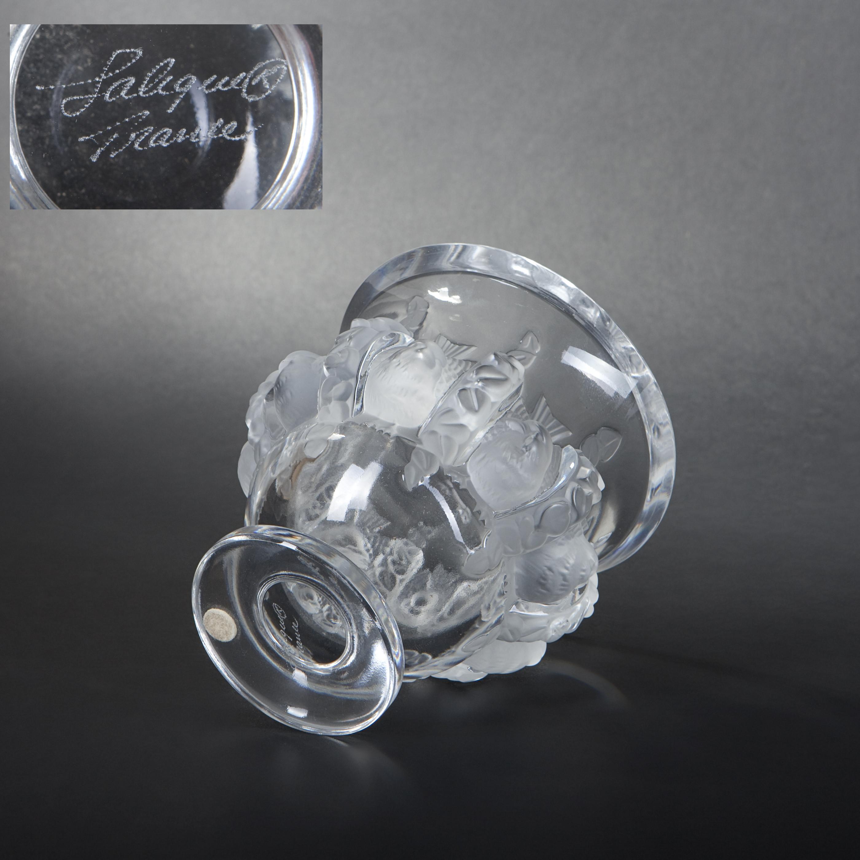 lalique crystal dampierre vase of lalique france dampierre model vase expertissim regarding dampierre model vase a· lalique france dampierre model vase