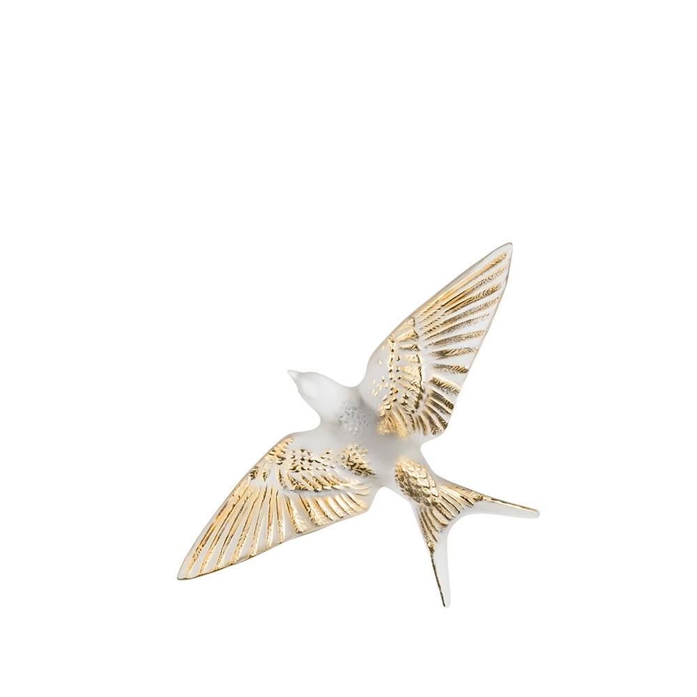 lalique dove vase of swallow wings down wall sculpture clear gold stamped crystal within swallow wings down wall sculpture clear gold stamped crystal sculpture lalique