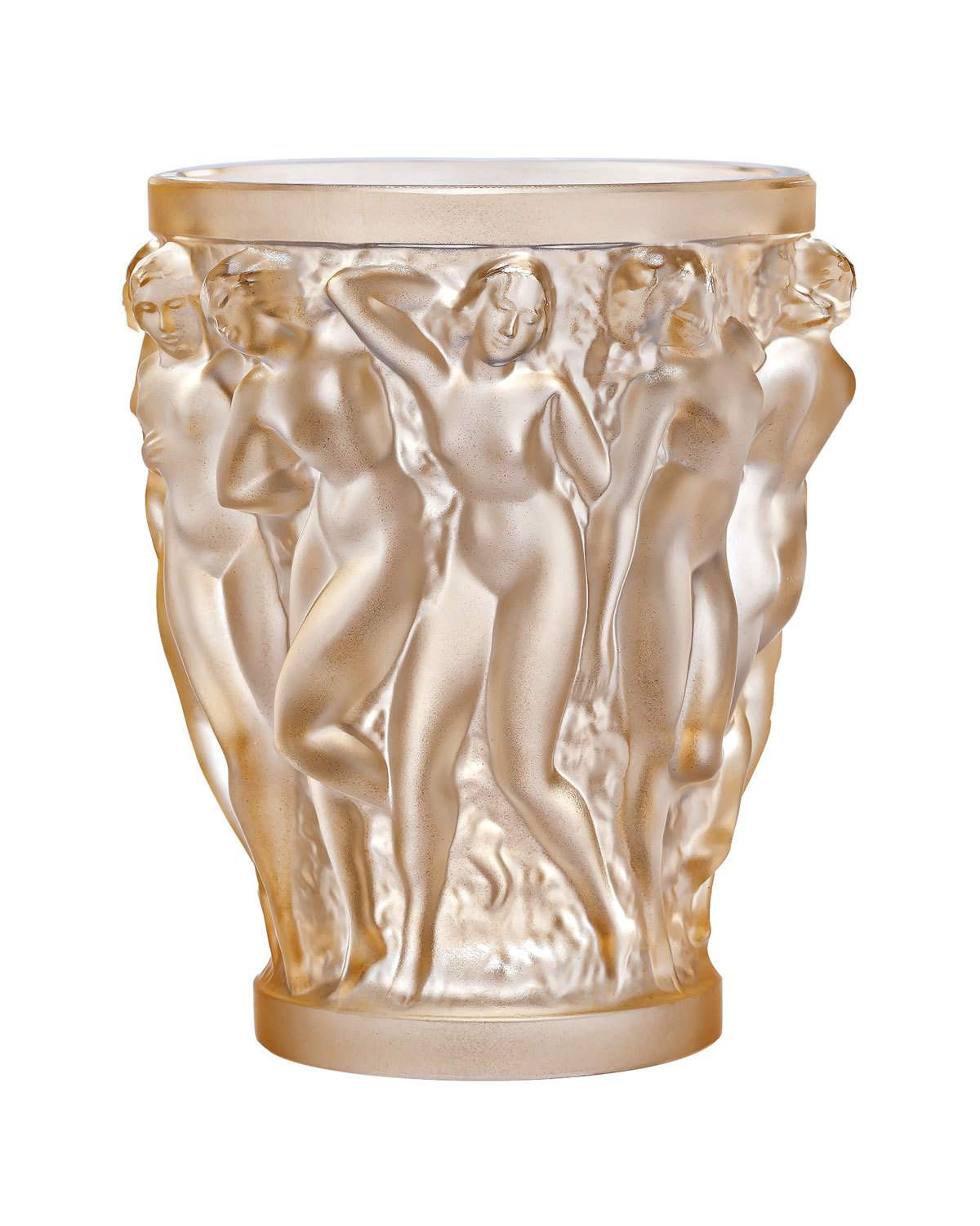 lalique vase bacchantes of lalique bacchantes small gold luster vase neiman marcus with bacchantes small gold luster vase