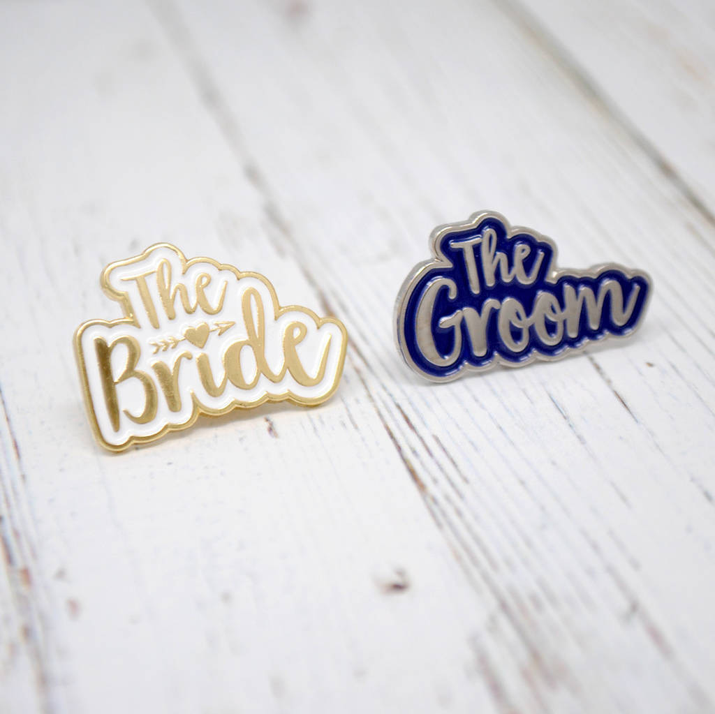 lapel pin vase how to use of the bride and the groom wedding enamel lapel pin set by wedfest pertaining to the bride and groom wedding hen stag badges