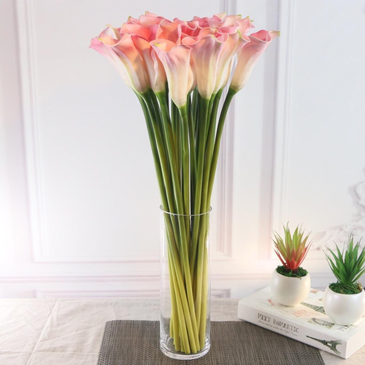 large acrylic vase of delicate simulation fake large pu curling calla lantern home within delicate simulation fake large pu curling calla lantern home decoration festive celebration feel flower retail wholesale online with 0 83 piece on guides