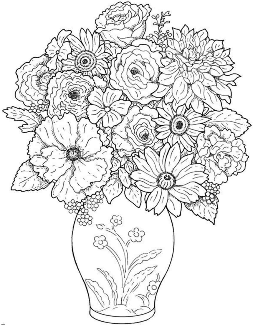 Large Black and White Vase Of Lovely Black and White Wreath Wreath Throughout Cool Vases Flower Vase Coloring Page Pages Flowers In A top I 0d Design White