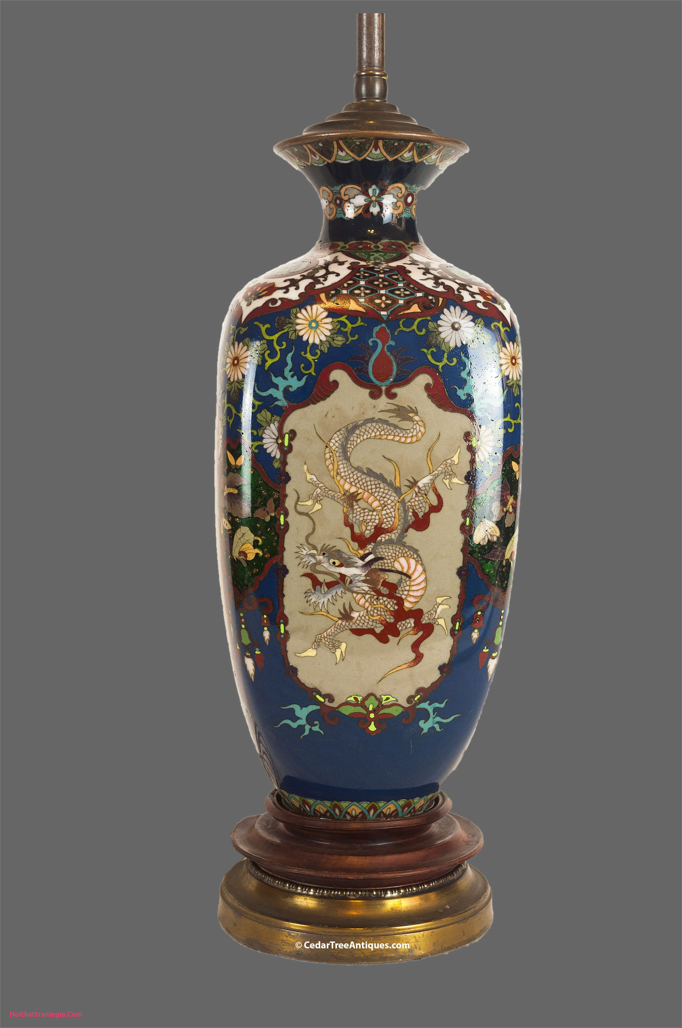 large blue and white vase of 20 chinese antique vase noithattranlegia vases design in japanese meiji period cloissone dragon vase mounted as a lamp
